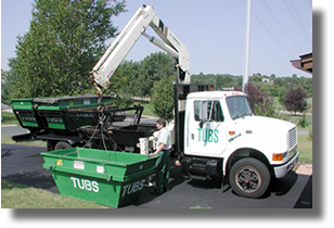 TUBS 3, 6 or 9 cubic yards crane delivery
